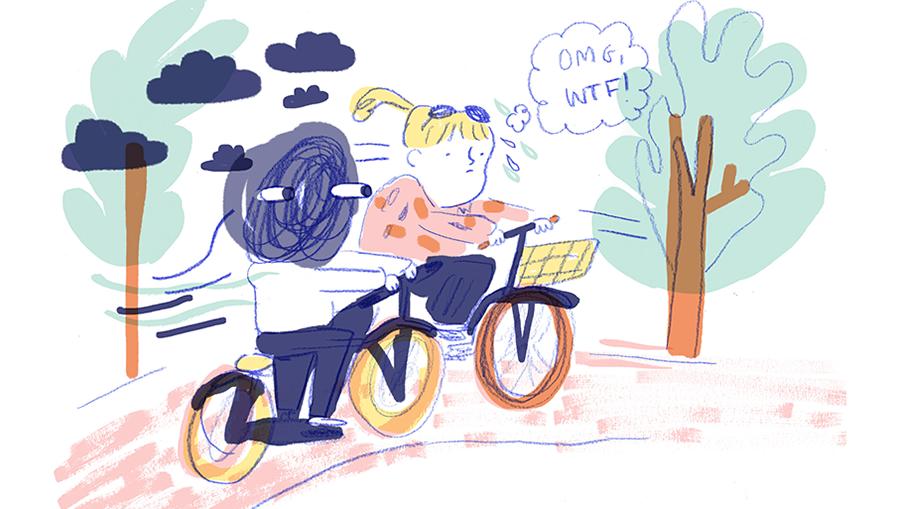 De pervert op de fiets